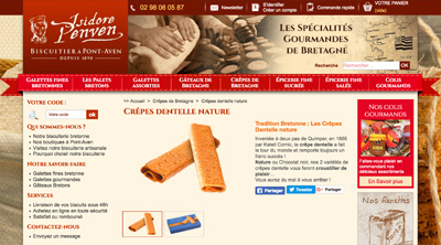 Le site internet Isidore Penven