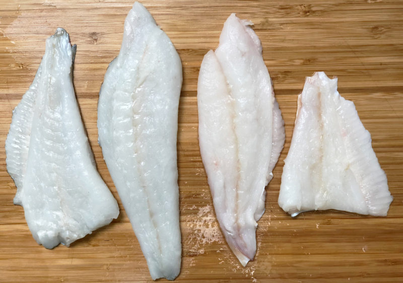 Les filets d'un turbot