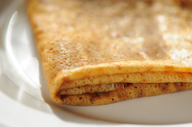 La simple crêpe au beurre