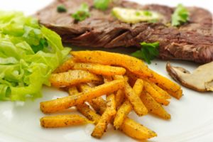 Un steak et des frites de butternut, mmmh