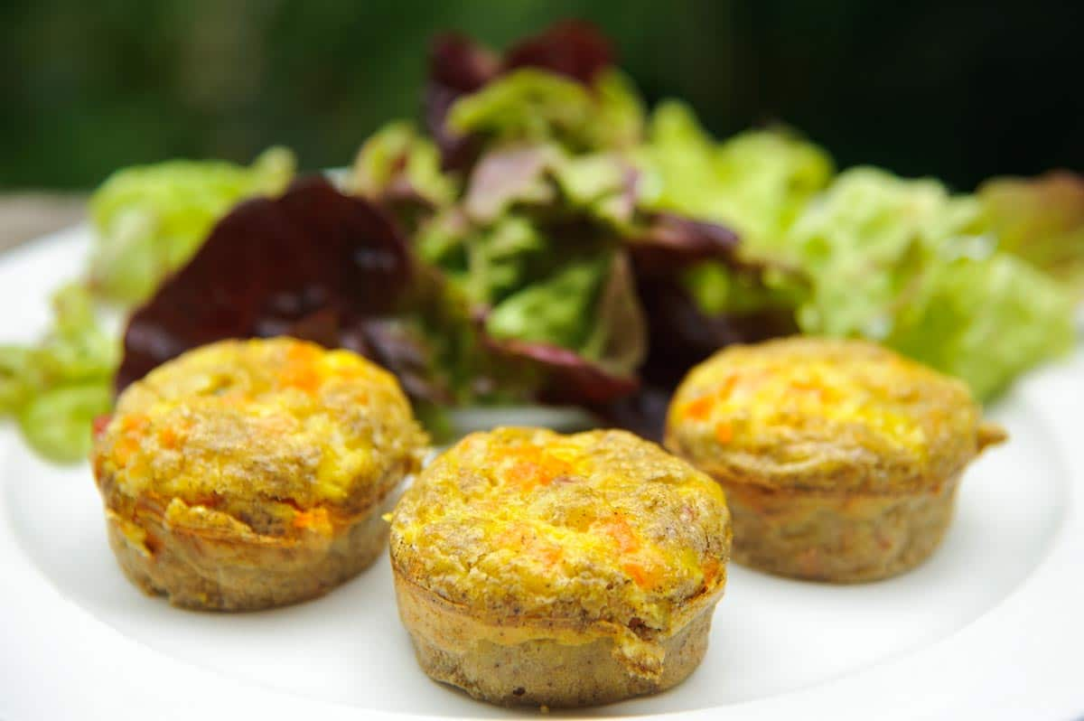 Mini quiches au sarrasin