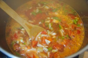 Cuisson du minestrone
