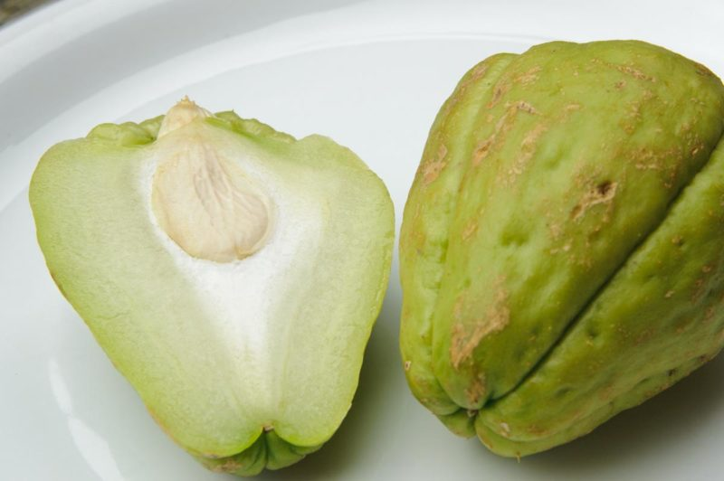 Chayote coupée